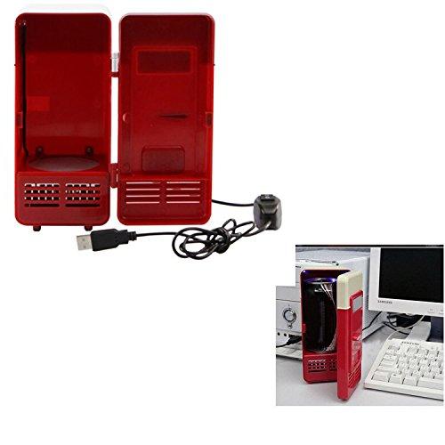 USB mini Coke frigorifero frigorifero congelatore per Coca Cola bevande bianco rosso