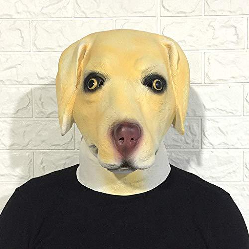 YKQ WS Halloween Hundekopf Latex Maske Make-up Prom Party Kopfschmuck Bühnenshow Dekoration (Farbe : B)