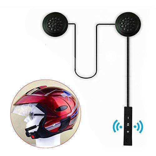 Jianghui133 Cuffia per Casco Moto Auricolari Cuffie Bluetooth Musica Stereo, E1 Bluetooth 4.1 Navigatore e MP3, Raggio di 10m, Interfono Cuffia e Microfono Sportivo Sci Bicicletta Arrampicat
