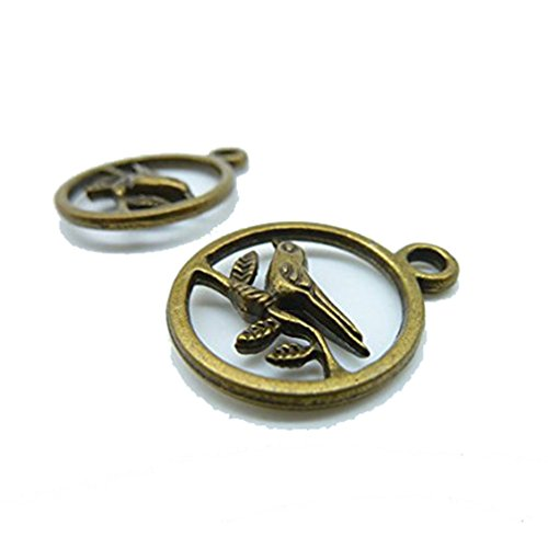 20-stuck-20-x-25-mm-antik-bronze-lovely-vogel-auf-die-brach-rund-charm-anhanger-c1512