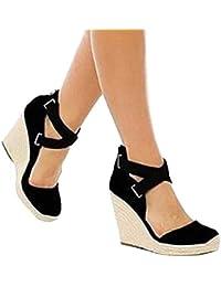 Sandalias Mujer Verano 2019 Plataforma ❤ Absolute Sandalias de Moda Retro para Mujer Sandalias Zapatos