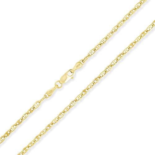 14 Karat 585 Gold Italienisch Rund Mariner Kette Gelbgold - Breite 2.50 mm (55)