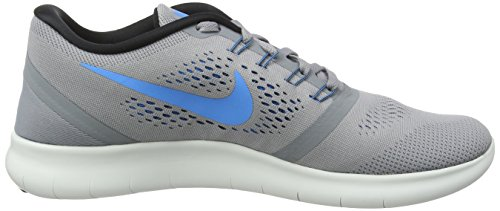 Nike Herren Free Run Laufschuhe Grau (Stealth/Blue Glow-Black-Cool Grey)