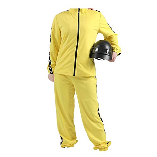 Lilongjiao Cosplay Costume for PUBG Battlegrounds Sport Jaunes de Playerunknown Manteau trois pôles Casque (Size : XL)