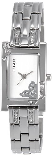 41ah9RS3uWL - Titan NE9716SM01J Raga Silver Women watch