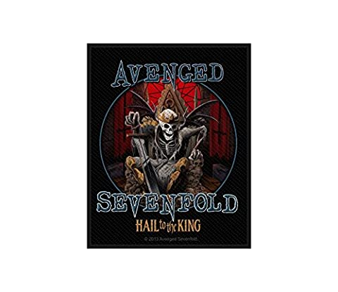 Avenged Sevenfold Aufnäher - Hail To The King - Avenged Sevenfold Patch - Gewebt & Lizenziert !!