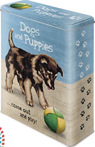 Nostalgic-Art 30310 Animal Club - Dogs and Puppies, Vorratsdose XL