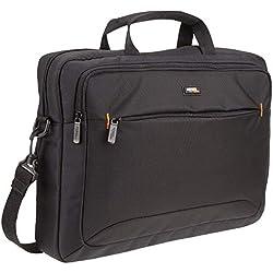 """AmazonBasics Sacoche à bandoulière pour tablette et ordinateur portable 15.6"""" (40 cm) noire, 1 pièce"""