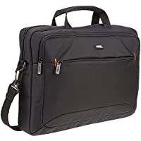 AmazonBasics Laptop- und Tablet-Schultertasche, für Laptops bis zu 15,6 Zoll (40 cm), Schwarz, 1 Stück