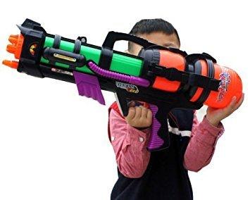 Wasserpistole 58.42 cm groß Pumpmechanismus und Drucksprüher, für den Garten, den Strand
