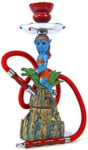 Blauer Avatar Pfeife Hookah Zubehör Schlauch ()