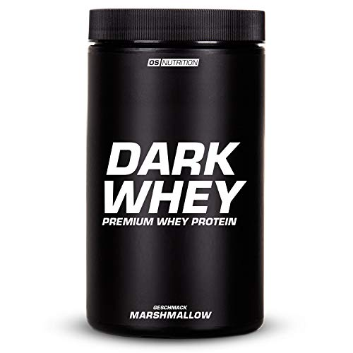 DARK WHEY – Premium Whey Protein + 25% Whey Isolat – OS NUTRITION 600g Marshmallow – made in Germany
