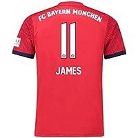 2018-2019 Bayern Munich Adidas Home Football Soccer T-Shirt Camiseta (James Rodriquez