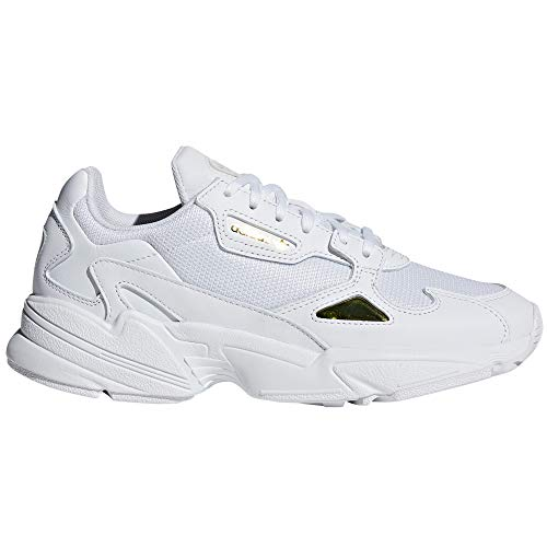 Adidas Falcon W, Scarpe da Fitness Donna, Sneaker (38.5 EU, White/Gold Met.)