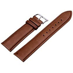 New Quality Genuine Leather Brown Watch Strap Band Womens Mens Sizes 12