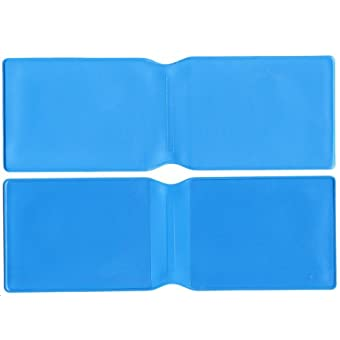 10 x Hellblau Kunststoff Oyster Card Wallet/Kreditkarte Halterung/ID Card Wallet/Visitenkarten/Reise Pass Cover – Made in the UK