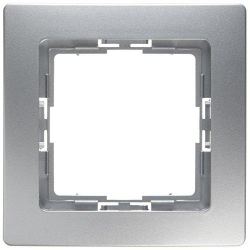 Preisvergleich Produktbild Kopp 402020015 Profi-Pack Abdeckrahmen 1-fach (10 Stück) Paris Silber , 1 Stück,