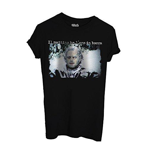 T-Shirt SHINING LOL- MATTINO AL FREDDO - FILM by Mush Dress Your Style Nera
