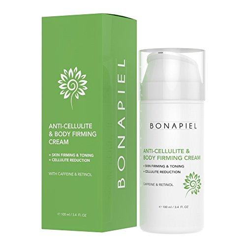 Bio & Vegan Cellulite Creme mit aktivem Koffein, Retinol & Hyaluronsäure von Bonapiel | Hautstärkung & Toning Unterstützung |...