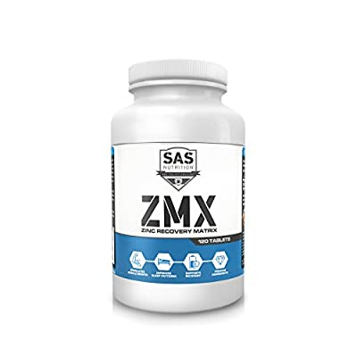 SAS ZMX 120 Tabs (Muscle Strength Growth and Sleep Enhancer) Formerly Z.M.A (Zinc Monomethionine Aspartate) from SAS Nutrition