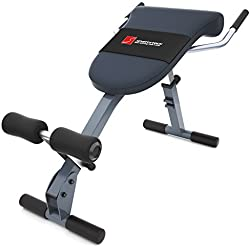 Sportstech Appareil de Musculation du Dos et des abdominaux 3-en-1 BRT200, Banc Sit-up Pliable incliné, Hyper Extension, Multifonctionnel, Fitness Maison, 5 Angles d'Inclinaison