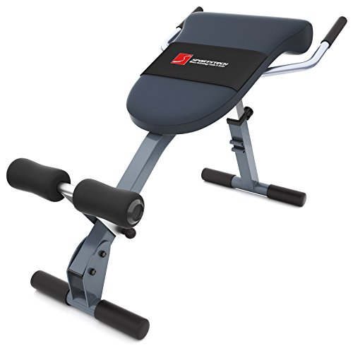 Sportstech VAINQUEUR DE Test Appareil de Musculation du Dos et des abdominaux 3-en-1 BRT200, Banc Sit-up Pliable incliné, Hyper Extension, Multifonctionnel, Fitness Maison, 5 Angles d'Inclinaison