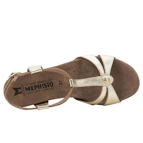 Mephisto Womens Briana Leather Sandals Yellow