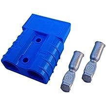Conjunto de conectores para carretilla elevadora conectores del cable de carga de la batería 175A 50 mm², cable de conexión azul