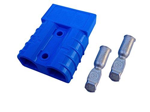 Batterie Stecker 50A 16 mm2 blau Steckverbinder für Gabelstapler Kabel 50a Kabel