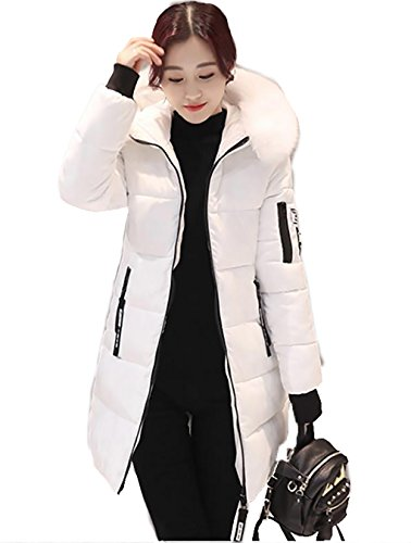 Winter Thickened Long Down Jackets Women Warm Plus Size Coat Maxi Outerwear Medium Rot