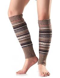 ZARU 1 Par Mujeres del ajuste de la raya hizo punto la media de la cubierta de la pierna Calcetines