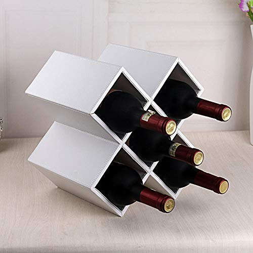 Red wine rack, wine bottle rack, solid wood wine cabinet rack, household European creative decorations, White plain five-grid wine rack -