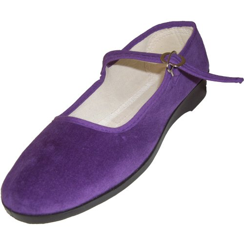 Cina scarpe di velluto numeri 33-42 vari colori Viola