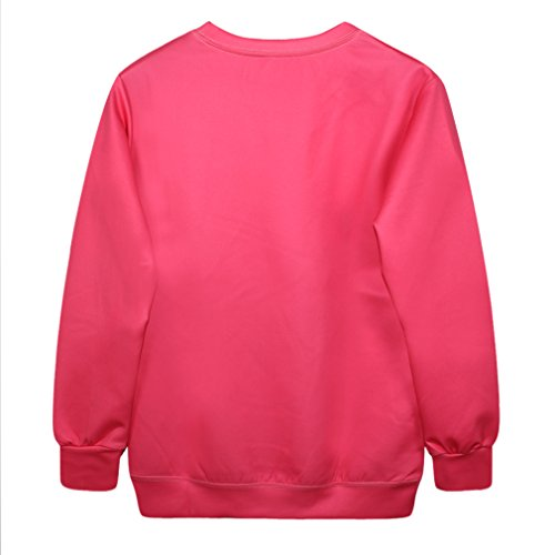YICHUN Femme Tops T-Shirts de Loisir Tee-Shirt Léger Sweat-shirts Sweaters Impression Pulls Blouse Pull-Overs Jumpers Rose 5#