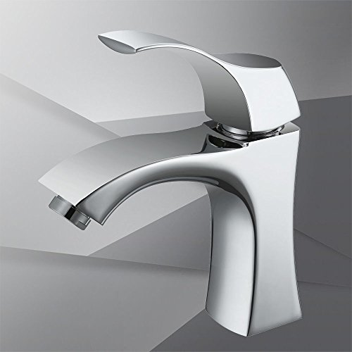 Homelody - Design-Waschbeckenarmatur, Einhebel, ohne Ablaufgarnitur, Keramikkartusche, Chrom