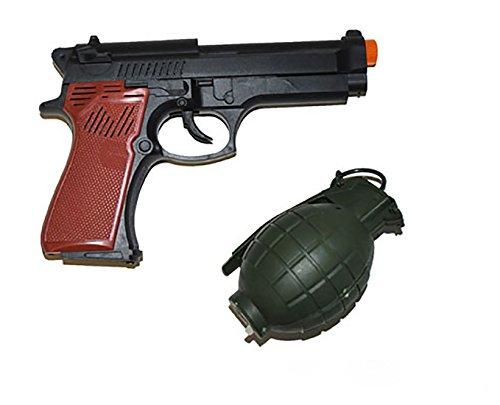 erdbeerclown - Waffen Set - Pistole und Handgranate für Verkleidungen, Grün