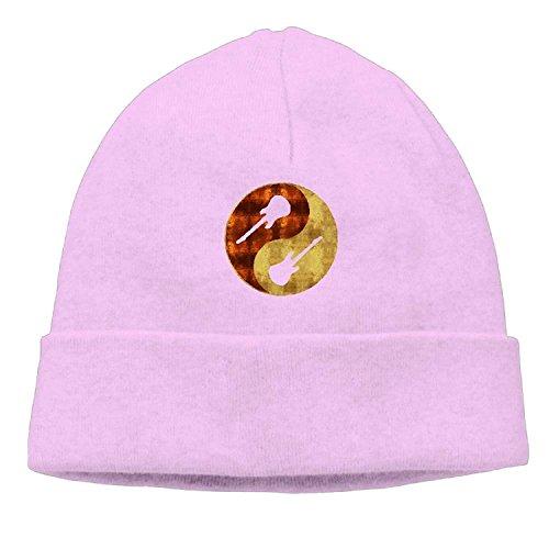 ghkfgkfgk Yin-Yang Guitar Gift Unisex Fashion Beanie Knit Hat Cap ColorKey -