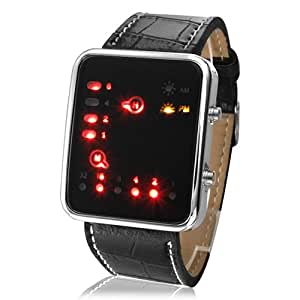 Regarder binaire - Japanese Style futuriste LED multicolore montre-bracelet