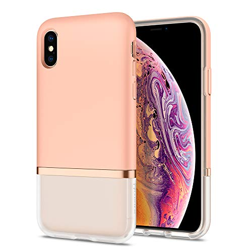 Spigen Cover iPhone XS, Cover iPhone X [LA Manon Jupe] Design Elegante e Cover Resistente agli Urti, Compatibile con l'iPhone XS (2018) / l'iPhone X (2017) - Milk Peach