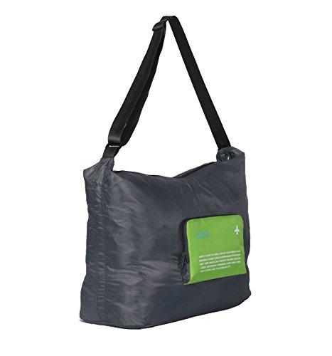 Nina wasserfest faltbar Gepäck Tasche mit Schulterriemen für Reisen Camping grün