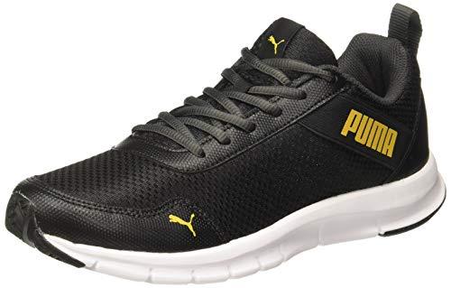 Puma Men's Movemax Idp Black-Sulphur Running Shoes-9 UK (43 EU) (10 US) (37116204_9)