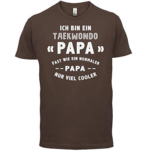 Ich bin ein Taekwondo Papa - Herren T-Shirt - 13 Farben Schokobraun