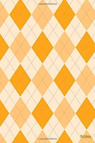 Notes: Fun argyle patterned cover - 6 by 9 inch lined journal Argyle-cover