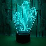 Nmdztz Nachtlicht Kaktus Acryl 7 Farbe 3D Nac...Vergleich