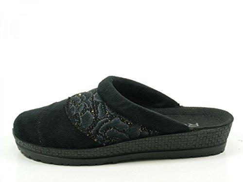 Rohde 2293-90 Neustadt-D Pantofole Donna Schwarz