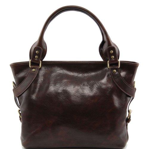 Tuscany Leather Ilenia - Sac à épaule Marron foncé Sacs à bandoulière en cuir Marron foncé
