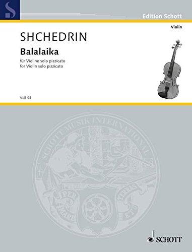 Balalaika: Violine solo pizzicato. (Edition Schott)