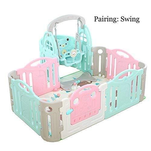 Sunny Folding Kinder Indoor Baby Zaun, Kinder Kleinkind Krabbeln Mat Zaun, Spielgeräte Familie Baby Spielzaun Portable Baby Home Park - Park Station