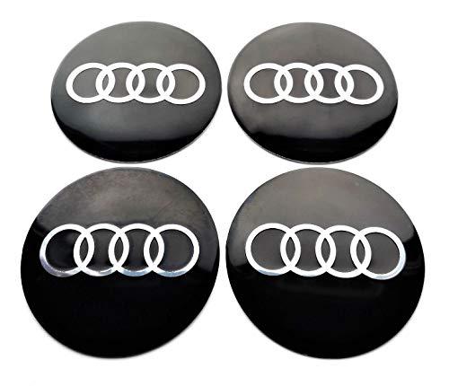 4 Rad mitte kappen aufkleber 60 mm AUDIembleme gewölbt logo selbstklebendes radkappen felgenkappen
