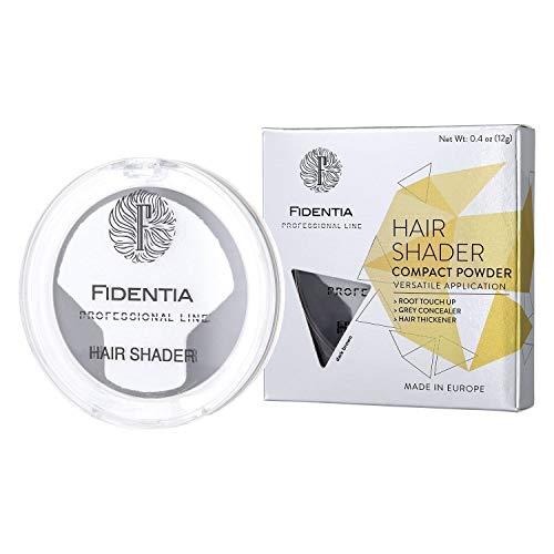 Fidentia Haar Concealer - Haarpuder zur Haarverdichtung, Ansatz kaschieren, Grauhaarabdeckung - 12g, Dunkelbraun